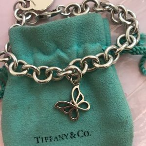 Tiffany & Co butterfly charm and link